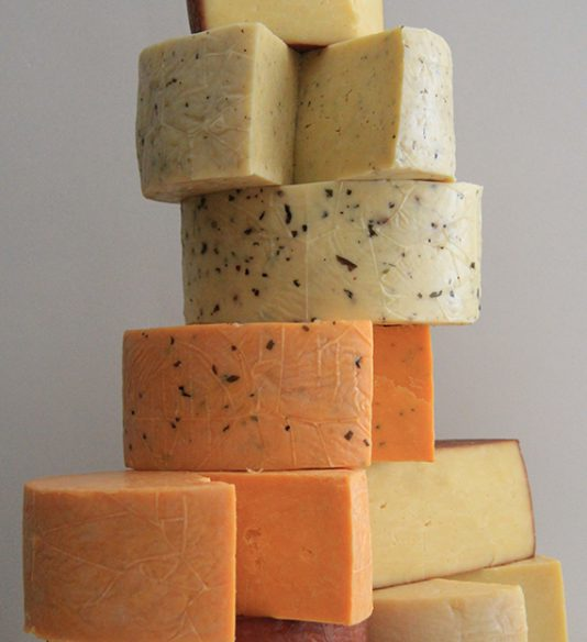 Stacked cheese