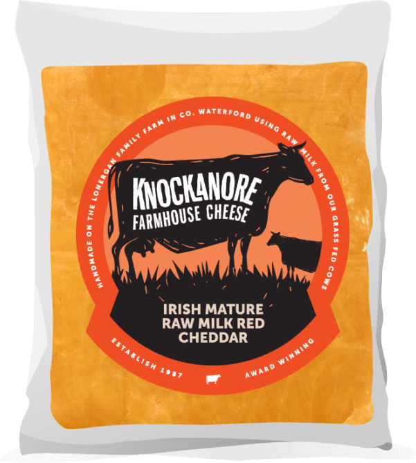 Knockanore Farmhouse Cheese Mature Red Cheddar