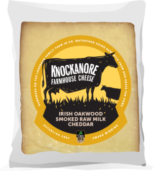 Knockanore Irish Oakwood Smoked Raw Milk Cheddar